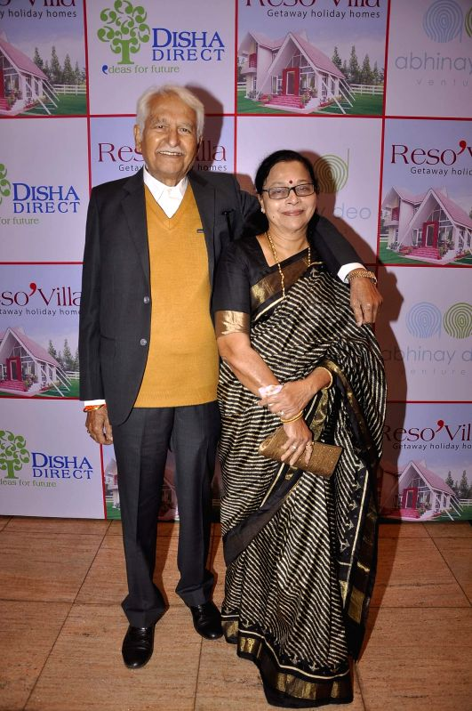 Marathi actors and husband wife Ramesh Deo and Seema Deo during the launch of Resovilla, holiday home (phase 2) in Mumbai, on March 2, 2015.