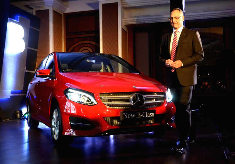 Mercedes-Benz India MD and CEO Eberhard Kern at the launch of Mercedes-Benz B-Class in Mumbai, on March 11, 2015.