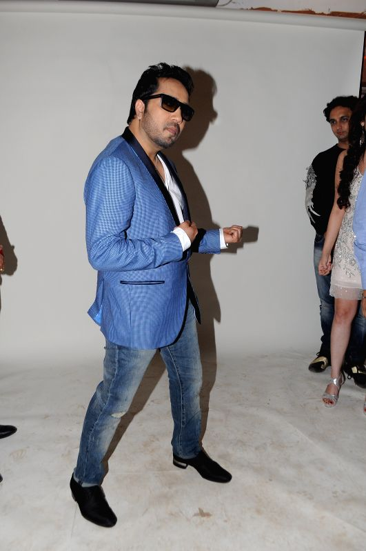 Mika Singh during photo shoot of album 'BottomsUp' in Mumbai on 24th March 2015. - Mika Singh