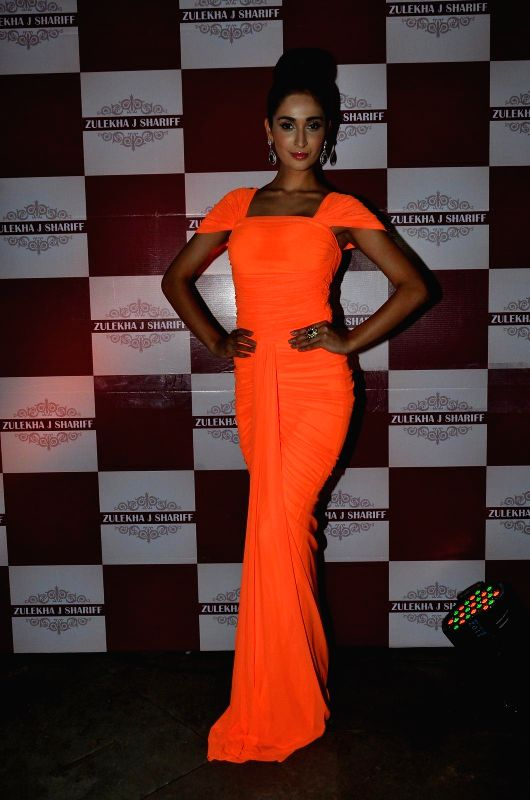Model Alankrita Sahai during the launch of Zulekha`s collection in Mumbai, on Dec. 15, 2014. - Alankrita Sahai