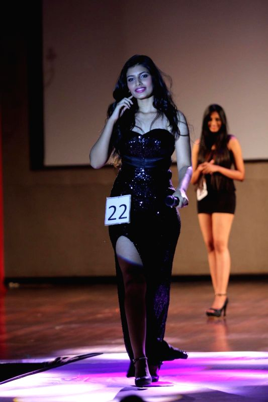 Model during She`s Got the Look fashion show at Indian Institute of Technology Bombay (IITB) festival Mood Indigo in Mumbai, on December 29, 2014.