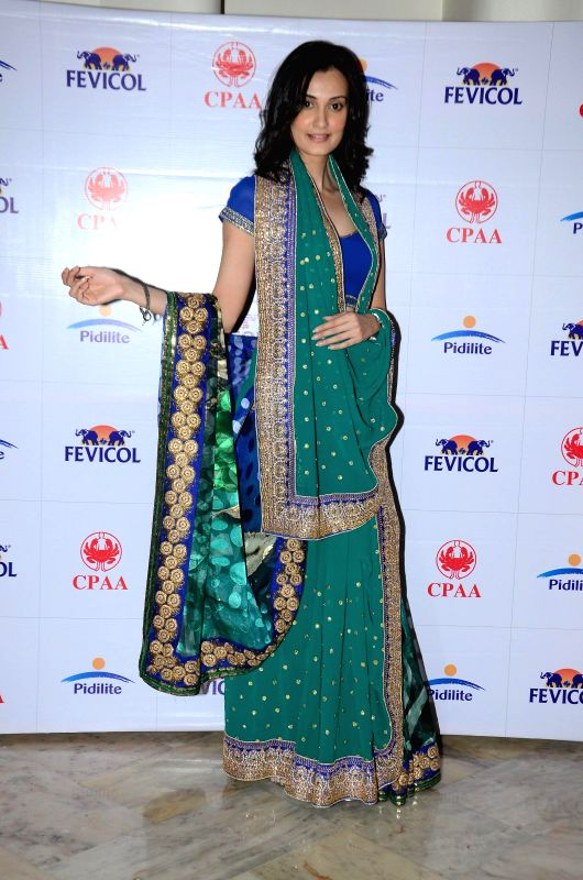 Model Vaishali Desai during the preview of fashion designer Shaina NC at the Pidilite 10th Caring with Style fashion show on Feb 26, 2015. - Vaishali Desai