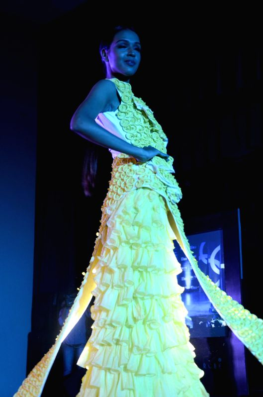 Models at the India's 1st Condom Fashion Show - A Social Initiative to raise awareness on the usage of condoms in Mumbai on Jan. 29, 2015.