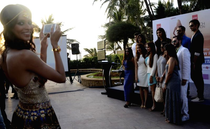 Models during India Beach Fashion Week - press conference in Mumbai, on Jan 21, 2015.