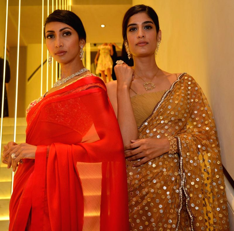 Models during the inauguration of Nirav Modi Jewellry shop in Mumbai on March 14, 2015.