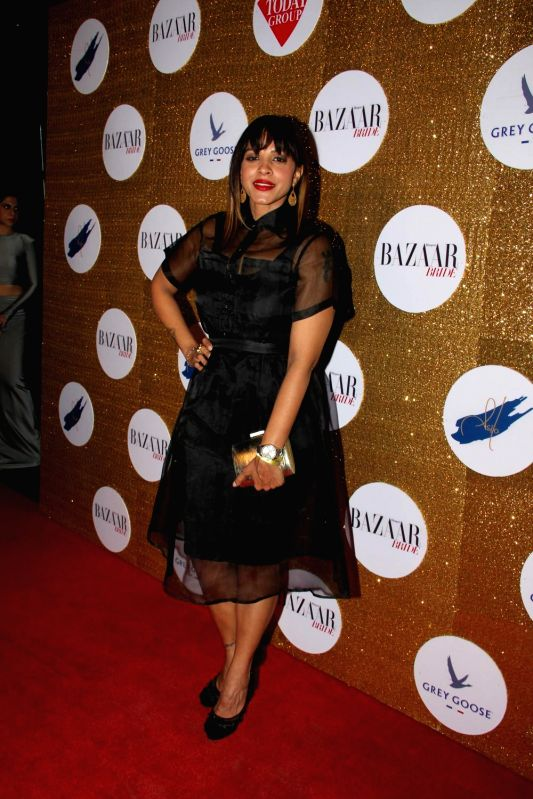 Models during the Red Carpet For Harper's Bazaar Bride 1st Anniversary Party in Mumbai on February 2015.