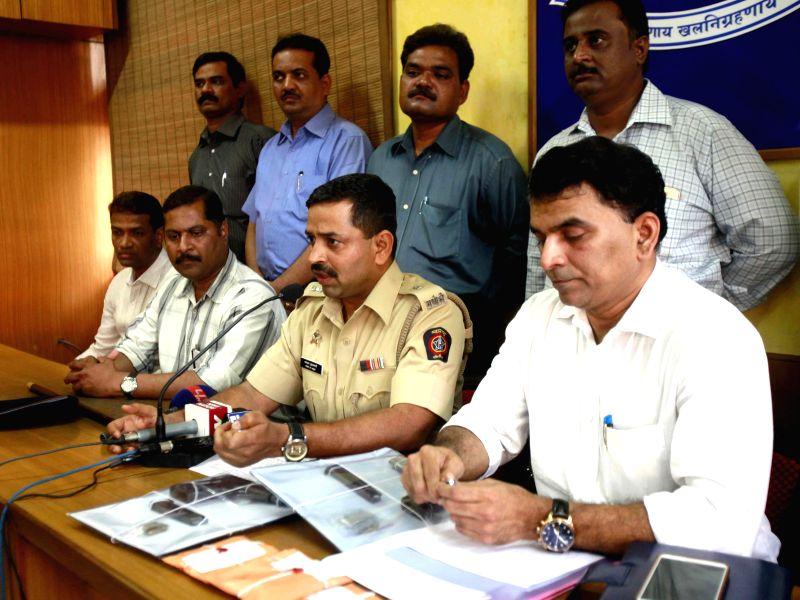 Mumbai DCP Dhananjay Kulkarni addresses a press conference in Mumbai, on Feb 24, 2015.