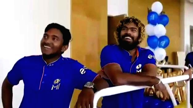 Mumbai: Mumbai Indians player Lasith Malinga who along with other players of the team were invited by the team's owner Nita Ambani for a bonding session at Antilia, in Mumbai on April 19, 2019. (Photo: IANS)