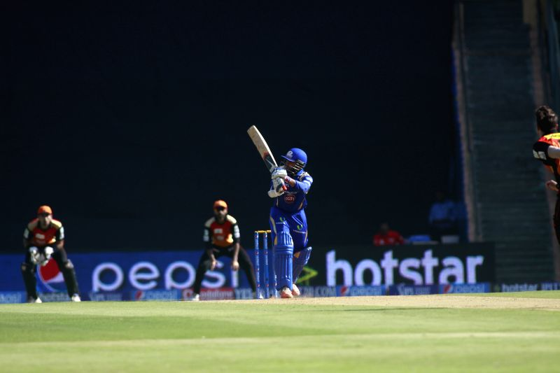 Mumbai Indians player Parthiv Patel during an IPL-2015 match between Mumbai Indians and Sunrisers Hyderabad at Wankhede Stadium, in Mumbai, on April 25, 2015. - Parthiv Patel