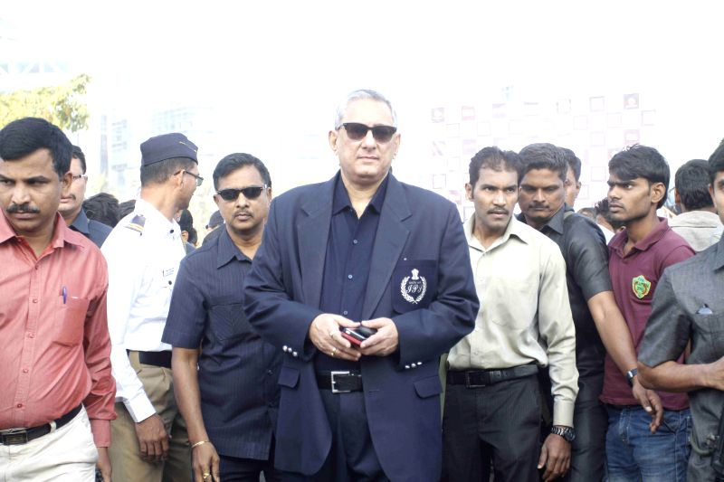 Mumbai Police Commissioner and also the Chief of Anti Terrorist Squad Rakesh Maria cheers and support for the cause of Ride for Safety event, in Mumbai, on Dec 21, 2014.