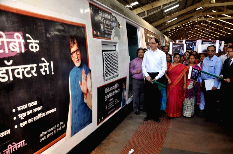 Mumbai municipal commissioner Sitaram Kunte during a prgramme organised to flag-off a tuberculosis awareness train from Churchgate in Mumbai, on March 30, 2015.