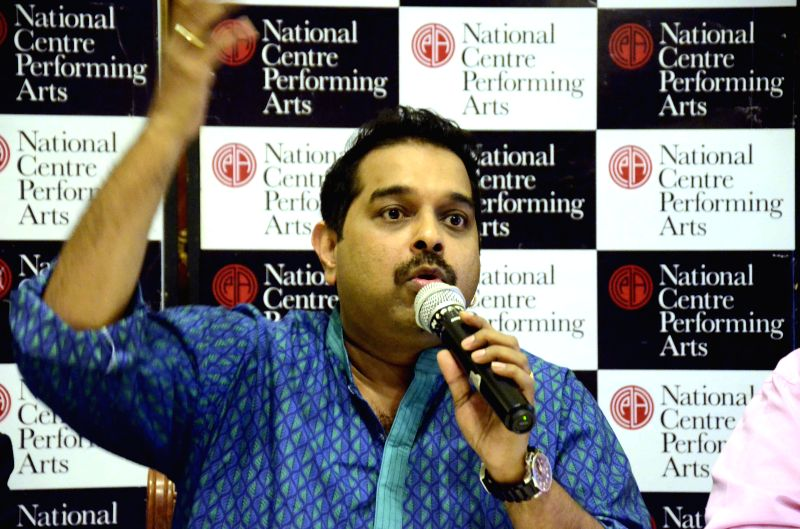 Music composer and playback singer Shankar Mahadevan addresses at the launch of a music course jointly conducted by Shankar Mahadevan Academy and National Centre for the Performing Arts ...