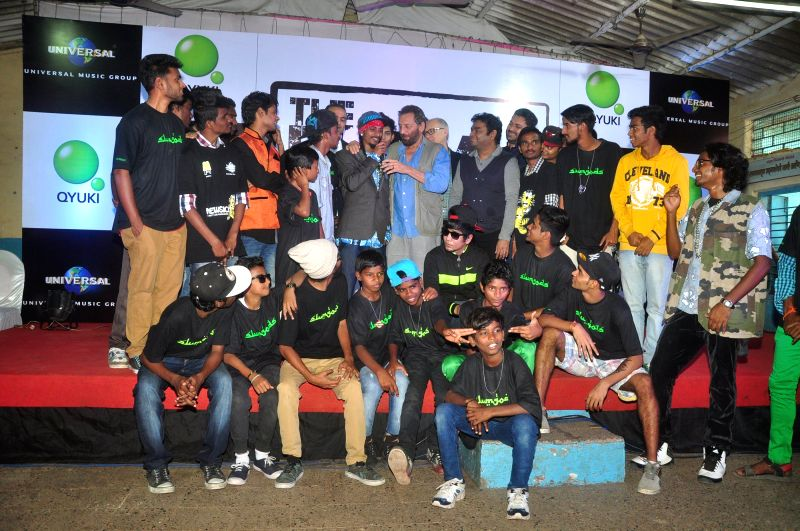 Music composer AR Rahman and filmmaker Shekhar Kapur with celebs have come together to discover and nurture talents from the world's largest slum Dharavi in Mumbai on 15th Jan 2015