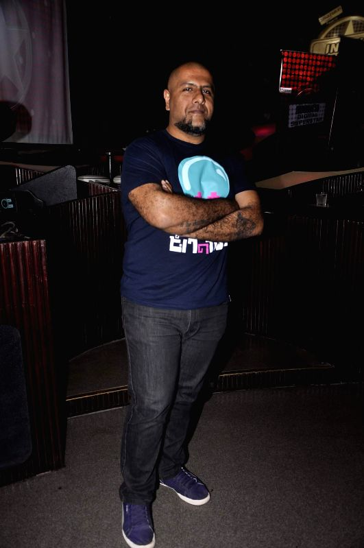 Music composer Vishal Dadlani during the launch of new reality show India's Digital Superstar (IDS) by Fremantle Media in Mumbai, on Jan. 19, 2015.