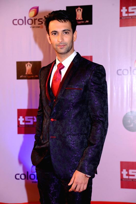 Nandish Sandu during the Television Style Award 2015 in Mumbai, on March 13, 2015.