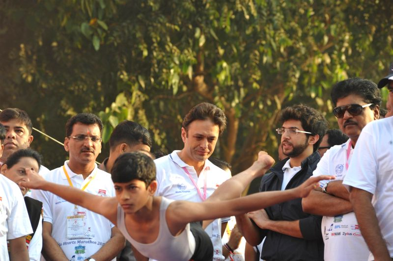 Ness Wadia, Managing Director of Bombay Burmah Trading Corp. Ltd and Aditya Thackeray, Yuva Sena president (1).JPG (318K) - Ness Wadia