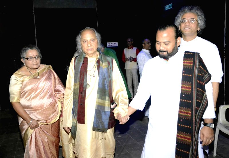 Pandit Jasraj during a musical event organised by his daughter Durga Jasraj at NCPA in Mumbai on Dec 20, 2014.
