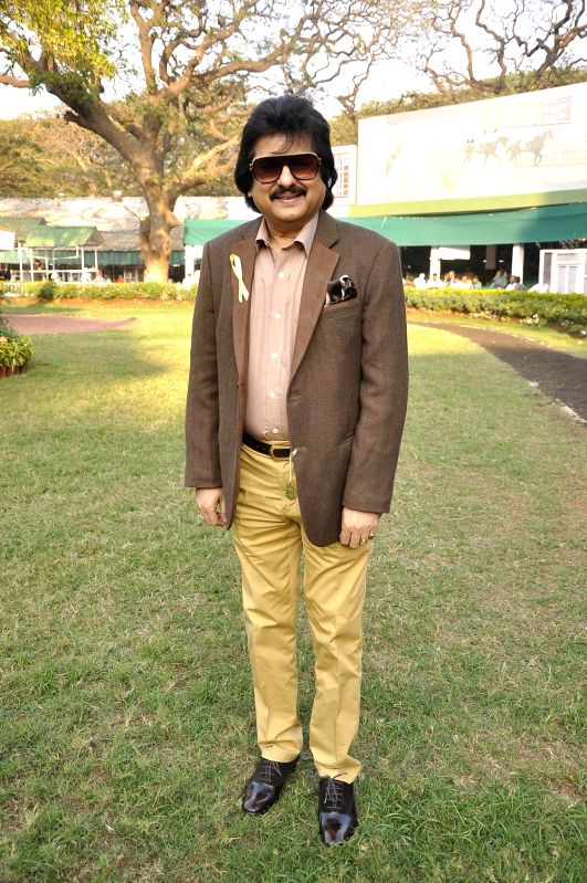 Pankaj Udas during the Hello Classic Cup at Mahalaxmi Race Course in Mumbai on Feb. 8, 2015.