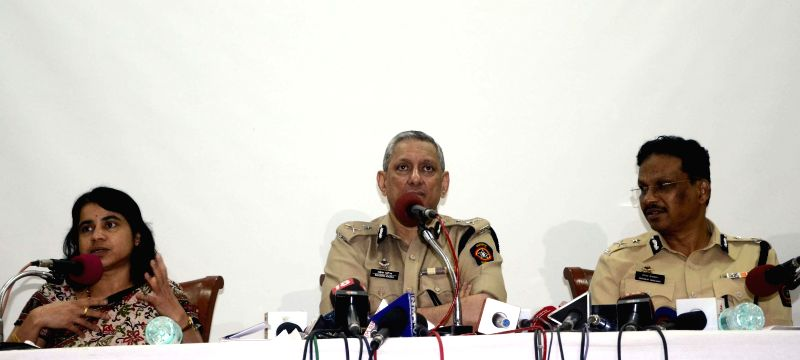Mumbai Police Commissioner Rakesh Maria during a press conference in Mumbai on July 31, 2014.