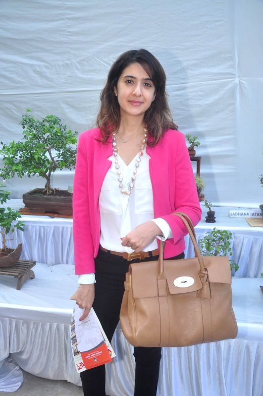 Pooja Makhija during the Inauguration of Exotic Bonsai and Ikebana Exhibition in Mumbai on Feb 27, 2015.