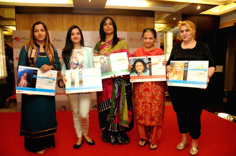Prabhjot Raman Khurana, Amy Billimoria, Rupinder Jagdish Shettiger, Seema Sehgal, Parul Chawla during Women Power Calendar Launch 2015 in Mumbai on Jan 17, 2015.