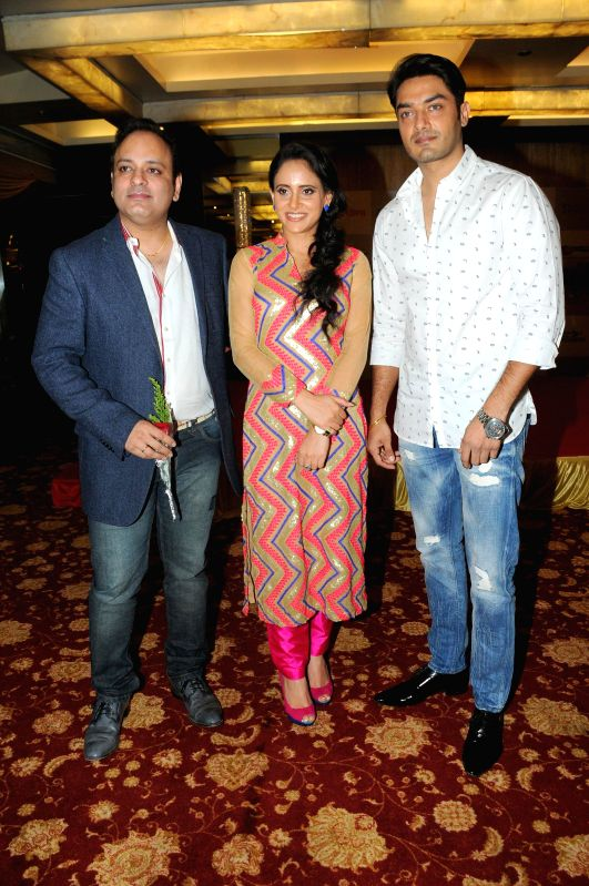 Prashant Sharma with Shweta Khanduri during Women Power Calendar Launch 2015 in Mumbai on Jan 17, 2015. - Prashant Sharma