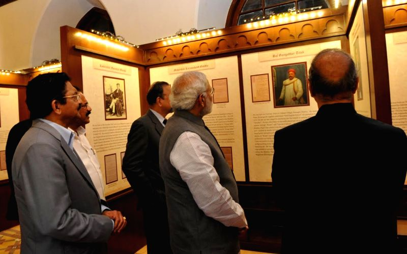 Prime Minister Narendra Modi at the inauguration of a Permanent Judicial Museum at Bombay High Court set up as part of its Sesquicennial Celebrations (150 years), depicting its rich judicial . - Narendra Modi and Chennamaneni Vidyasagar Rao