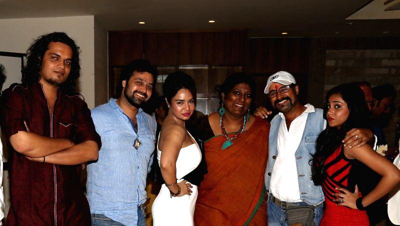 Rahul Mishra, Mudasir Ali, Kavitta Verma, Anusha Iyer, Amit Singh and Afrin Shaikh during the film Bumper Draw completion party in Mumbai on April 26, 2015. - Rahul Mishra, Kavitta Verma and Amit Singh