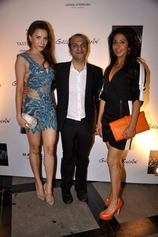 Raj Anand and Krishika Lulla during the launch of Gauri`s private workspace `Gauri Khan` at Bandra in Mumbai on, April 29, 2015.