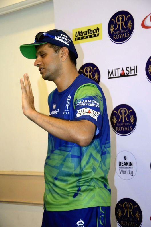Rajasthan Royal Challengers (RRC) mentor Rahul Dravid during a press conference in Mumbai on April 6, 2015. - Rahul Dravid