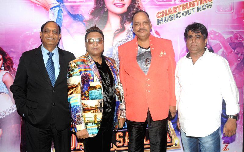 Rakesh Jain, PAddy, Rajesh Jain with Sachindra Sharma during the audio launch of film `Mumbai Can Dance Saalaa` in Mumbai on Thursday, Dec 11, 2014. - Rakesh Jain, Rajesh Jain and Sachindra Sharma