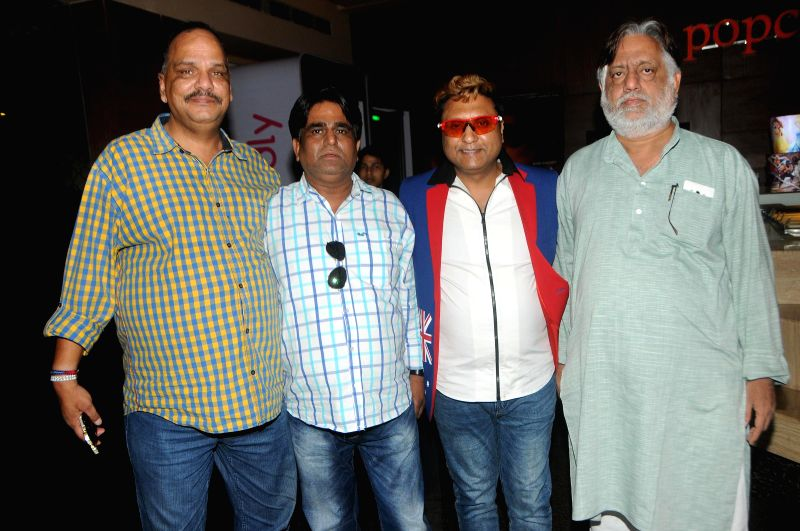 Rakesh Jian, Sachindra Sharma, Paddy, and Ranjeet Sharma during the trailer launch of film Mumbai Can Dance Saala in Mumbai, on Dec. 22, 2014. - Sachindra Sharma and Ranjeet Sharma