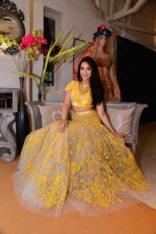 Rashmi Nigam in Shane & Falguni Peacock and jewellery by Mbj during the media preview for Bridal Asia show hosted by Divya & Dhruv Gurwara with fashion designers Shane & Falguni ...