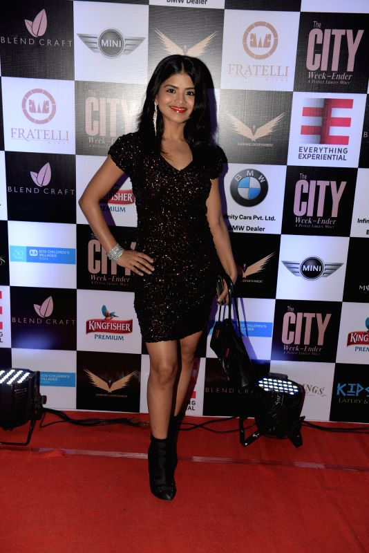 Rashmi Pitre during Rashmi Pitre's art collection showcase at the City Week Ender - A Perfect Luxury Mixer in Mumbai on Sunday, April 26th, 2015