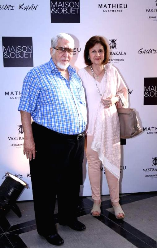 Rashna and Noshir Talati during the launch of Gauri`s private workspace `Gauri Khan` at Bandra in Mumbai on, April 29, 2015.