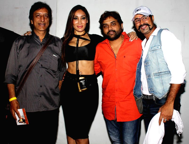 Ravi,Sofia Hayat, Sandeep Shukla and Amit during the launch of debut album Main Ladki Hoon by Sofia Hayat in Mumbai on March 20, 2015.