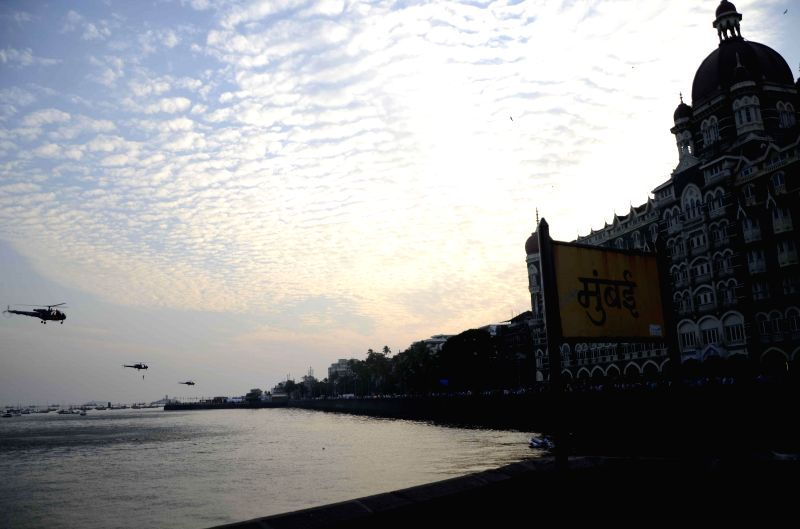 Rehearsals for Navy Day celebrations underway in Mumbai on Dec 1, 2014.
