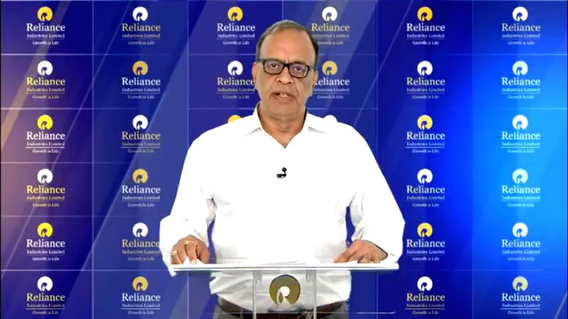 Mumbai: Reliance Industries Ltd (RIL) Chief Financial Officer Alok Agarwal announces the results for the fourth quarter of financial year 2018-19, in Mumbai on April 18, 2019. RIL on Thursday reported 9.8 per cent increase in its consolidated net pro