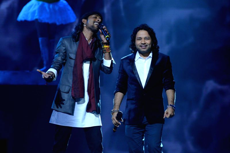 Rituraj Mohant celebrate after winning the India's Raw Star grand finale during the grand finale in Mumbai on 30th November, 2014