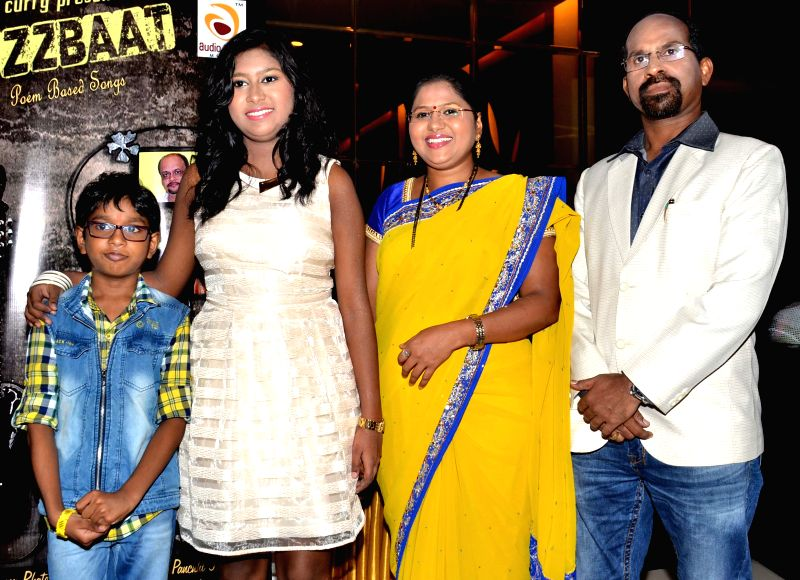 Rohan,Sanchiti, Swati and Raju Sakat during the launch of Jazzbaat, a music album in Mumbai, on April 22, 2015.