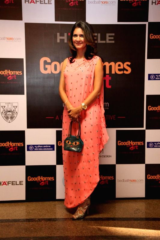 Ronitaa Italia Dhanu, Editor, GoodHomes India during the announcement of the third edition of GoodHomes for Art in Mumbai, on Nov 27, 2014.