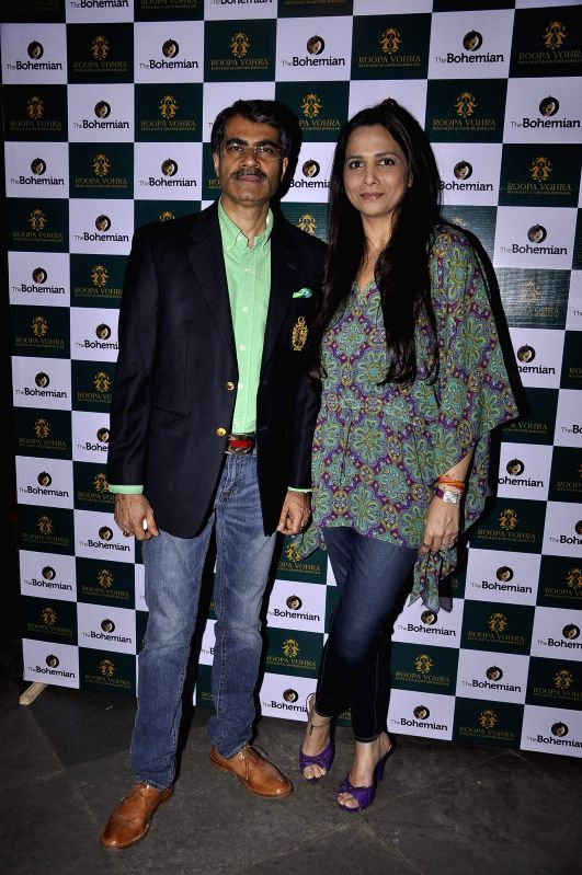 Roopa and Vivek Vohra at Game Changers 2015 calendar launch in Mumbai on Jan 18, 2015.