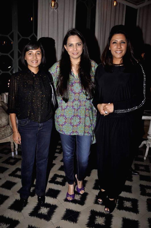 Roopa Vohra with Schauna Chauhan Saluja and Reshma Merchant at Game Changers 2015 calendar launch in Mumbai on Jan 18, 2015. - Schauna Chauhan Saluja