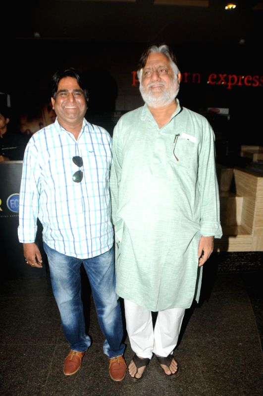 Sachindra Sharma with Ranjeet Sharma during the trailer launch of film Mumbai Can Dance Saala in Mumbai, on Dec. 22, 2014. - Sachindra Sharma and Ranjeet Sharma
