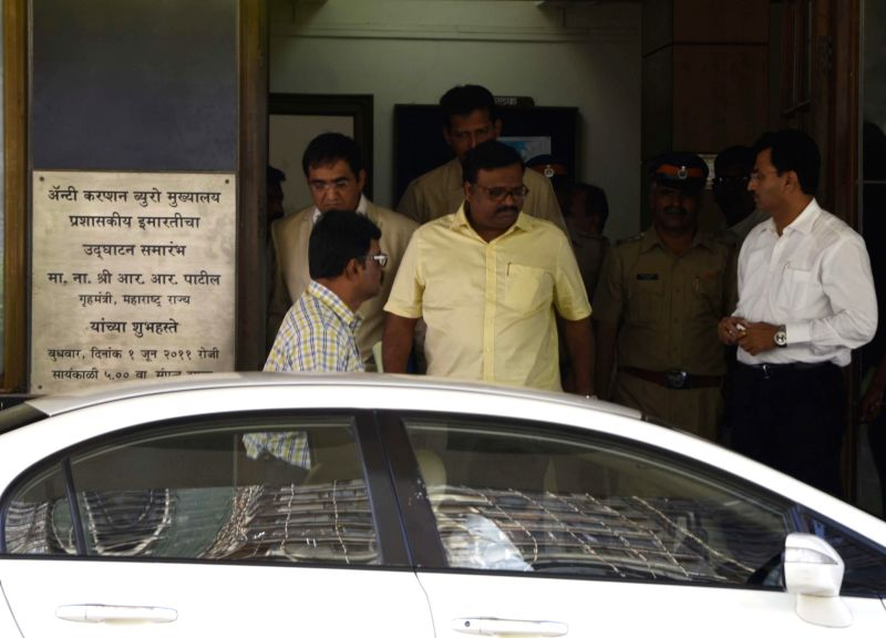 Sameer Bhujbal, the nephew of NCP leader Chhagan Bhujbal leaves the Anti Corruption Bureau headquarters after appearing before the bureau in connection with corruption allegation on him in ...