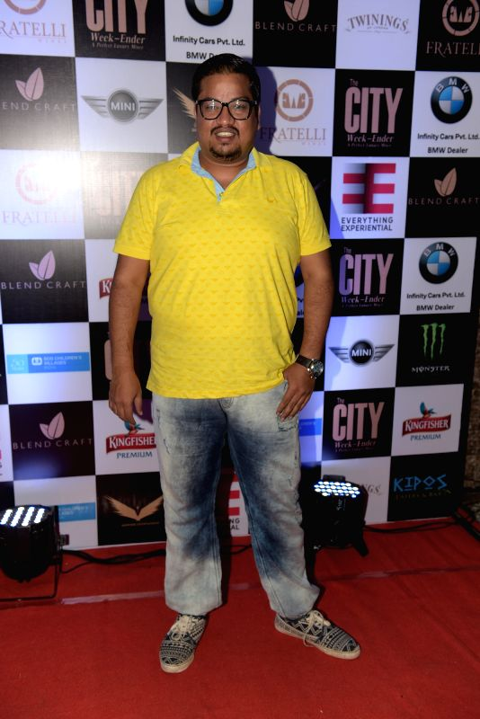 Shakir Shaikh during Rashmi Pitre's art collection showcase at the City Week Ender - A Perfect Luxury Mixer in Mumbai on Sunday, April 26th, 2015