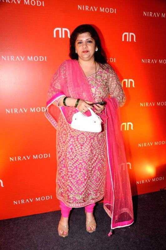 Sharmila Thackeray during the inauguration of Nirav Modi Jewellry shop in Mumbai on March 14, 2015.