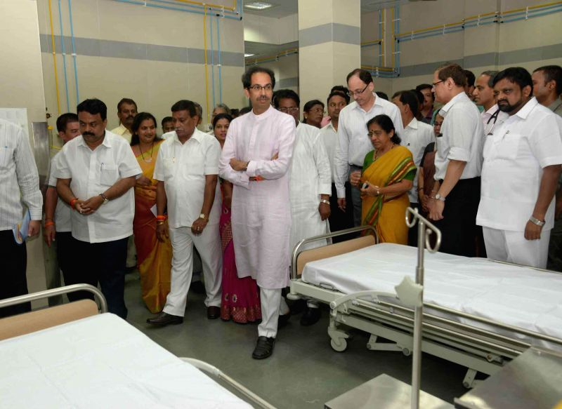 Shiv Sena chief Uddhav Thackeray at the inauguration of an emergency ward at KEM Hospital in Mumbai, on Nov 18, 2014.