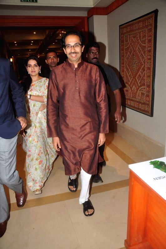Shiv Sena chief Uddhav Thackeray during launch of TB irradication awareness campaign in Mumbai, on Dec 21, 2014.