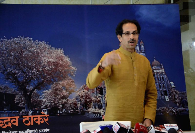 Shiv Sena Chief Uddhav Thackeray during a press conference regarding his photography exhibition to raise funds for drought affected farmers in Mumbai, on Jan 5, 2015.